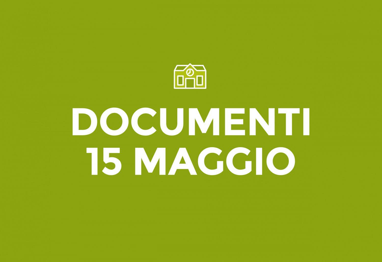 Documenti 15 Maggio
